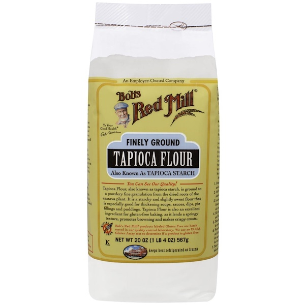 Bob's Red Mill, Tapioca Flour, Finely Ground, Gluten Free, 20 oz (566 g) (Discontinued Item)