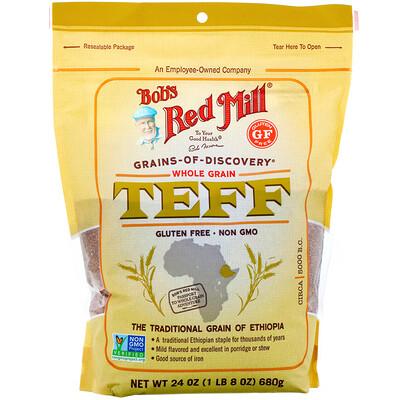 Купить Bob's Red Mill Тефф, цельное зерно, 680г (24унции)