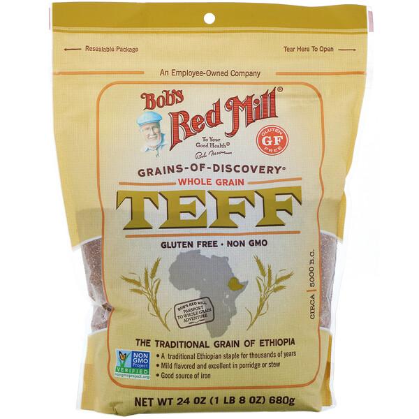 Bob's Red Mill, Teff, Whole Grain, 24 oz (680 g)