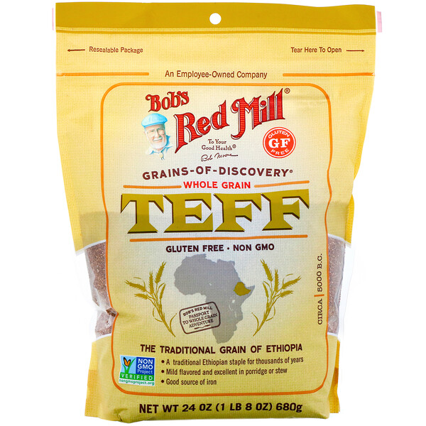 Bob's Red Mill, Teff, Whole Grain, 24 oz (680 g)