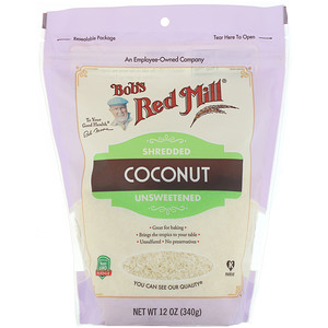 Bob's Red Mill, Shredded Coconut, Unsweetened, 12 oz (340 g)'