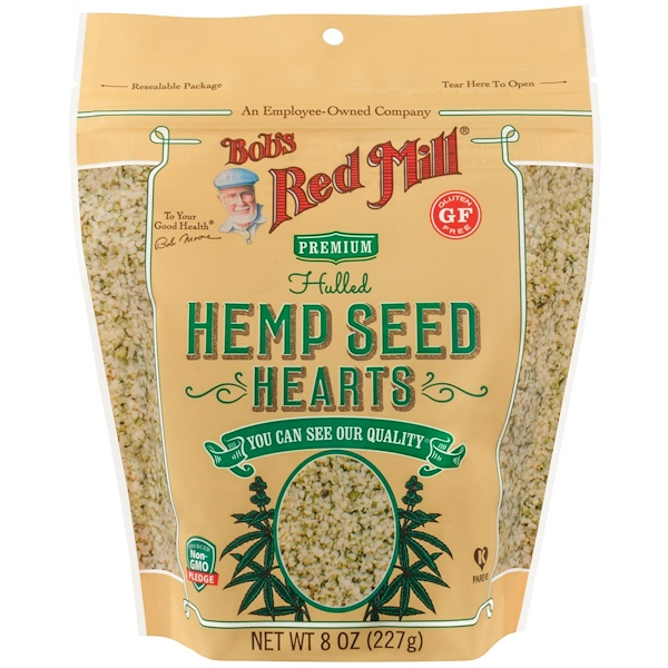 Bob's Red Mill, Hulled Hemp Seed Hearts, 8 oz (227 g)