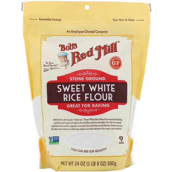 Bob's Red Mill, Harina de arroz blanco dulce, 680 g (24 oz)