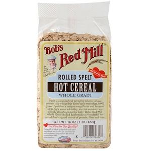 Бобс Рэд Милл, Rolled Spelt, Hot Cereal, 16 oz (453 g) отзывы