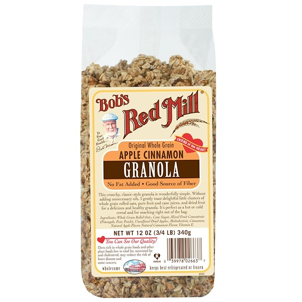 Bob's Red Mill, Original Whole Grain Apple Cinnamon Granola, 12 oz (340 g)