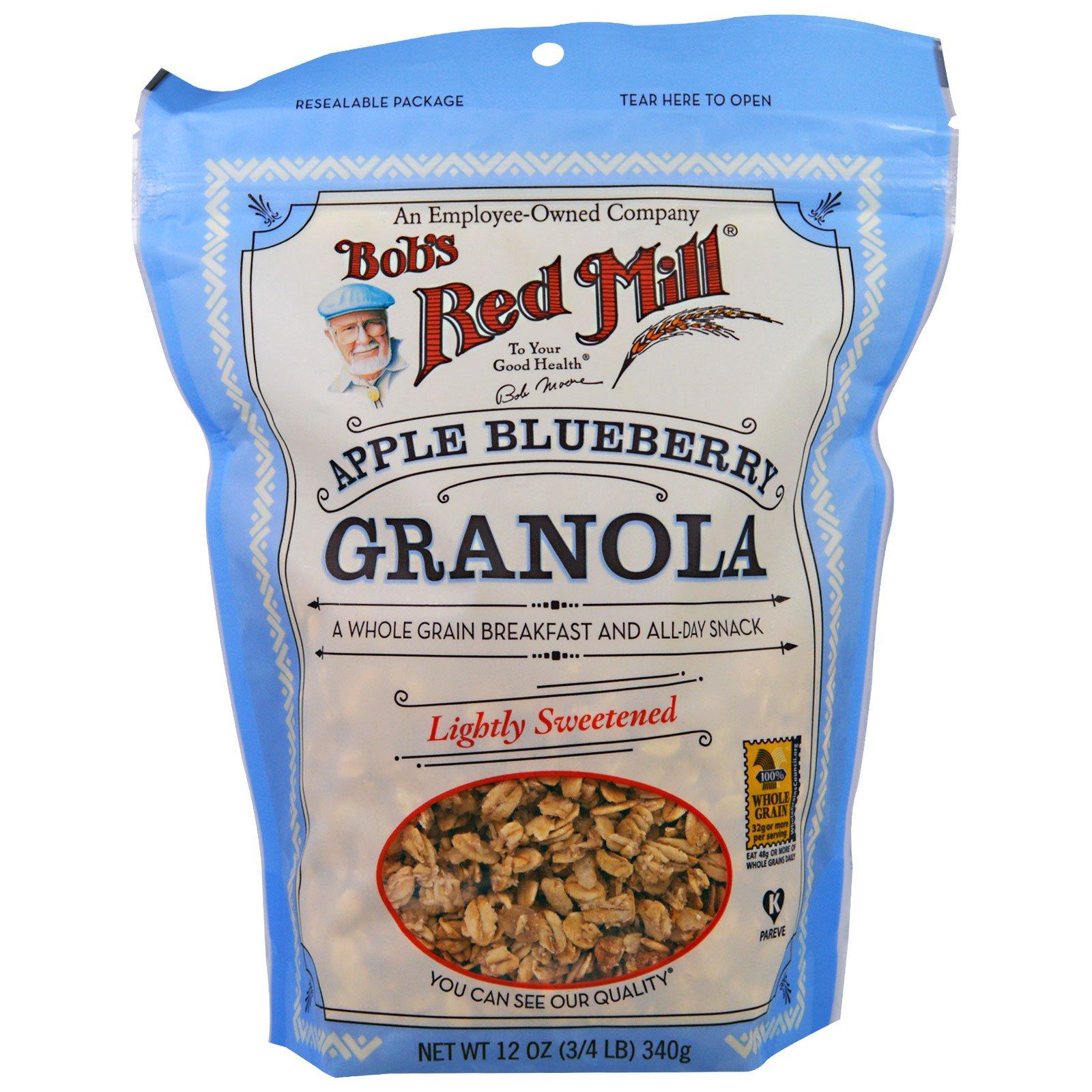Bob's Red Mill, Гранола с яблоком и черникой, 12 унций (340 гр)