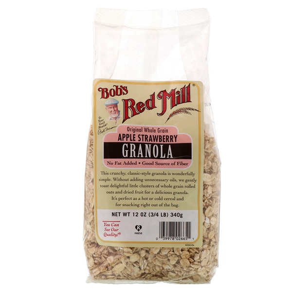 Bob's Red Mill, Granola, Apple Strawberry, 12 oz (340 g) (Discontinued Item)