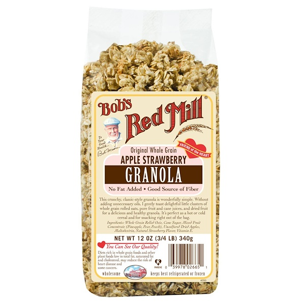 Bob's Red Mill, 有機燕麥片,蘋果&草莓口味,12盎司(340克)