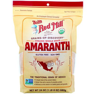 Купить Bob's Red Mill Органический амарант, цельное зерно, 680г (24унции)