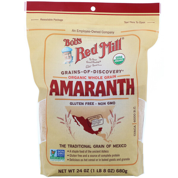 Bob's Red Mill, Organic Amaranth, Whole Grain, 24 oz (680 g)
