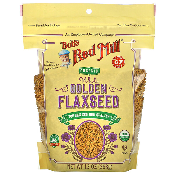 Organic Whole Golden Flaxseed, 13 oz (368 g)