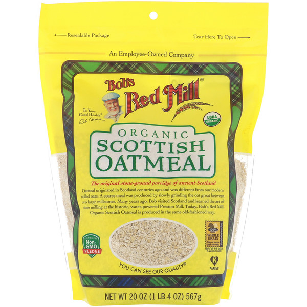 Organic, Scottish Oatmeal, 20 oz (567 g)