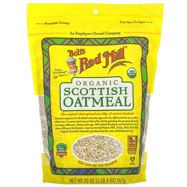 유기농 스코틀랜드 오트밀, 567g(20oz)