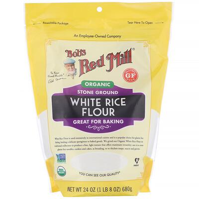 Купить Bob's Red Mill мука из органического белого риса, 680г (24унции)