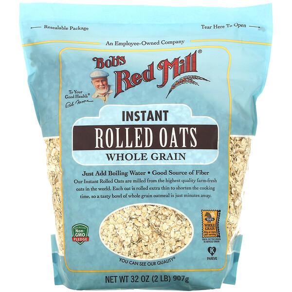 Bob's Red Mill, インスタントロールドオーツ、全粒穀物、907g(32オンス)