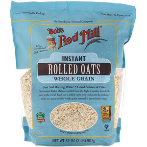 Бобс Рэд Милл, Instant Rolled Oats, Whole Grain, 32 oz (907 g) отзывы покупателей