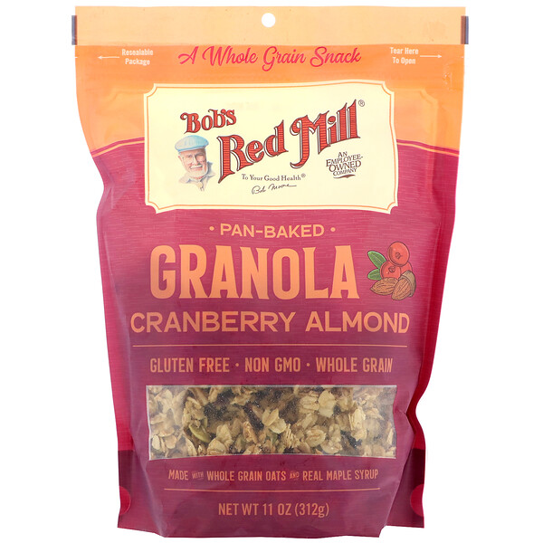 Bob's Red Mill, Pan-Baked Granola, Cranberry Almond, 11 oz (312 g)