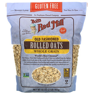 Bob's Red Mill, Old Fashioned Rolled Oats, Whole Grain, Gluten Free, 32 oz (907 g)