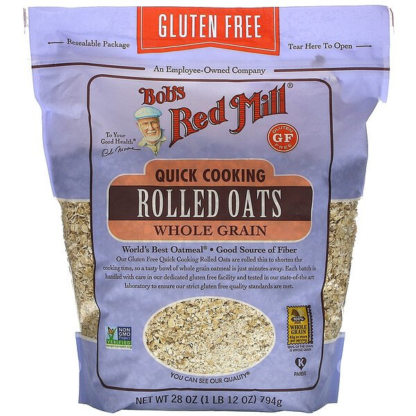 Quick Cooking Rolled Oats, Whole Grain, Gluten Free, 28 oz (794 g)