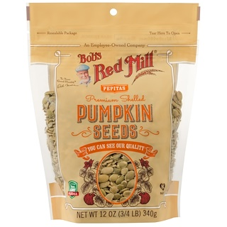 Bob's Red Mill, Premium Shelled Pumpkin Seeds, 12 oz (340 g)