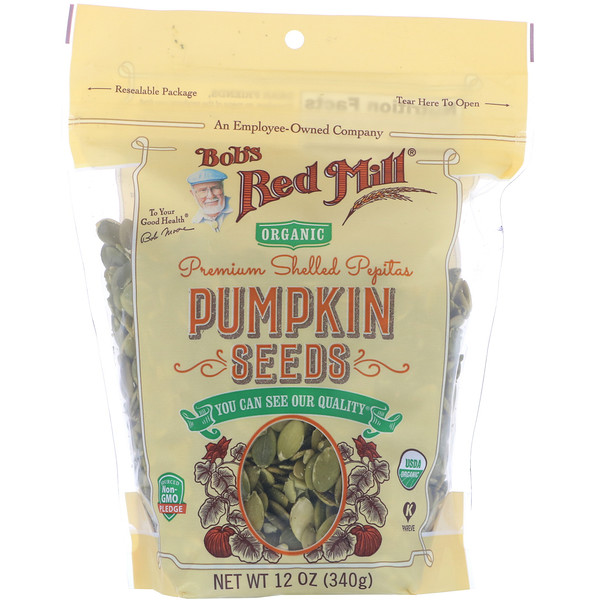 Bob's Red Mill, Premium Shelled Pepitas, Pumpkin Seeds, 12 oz (340 g)