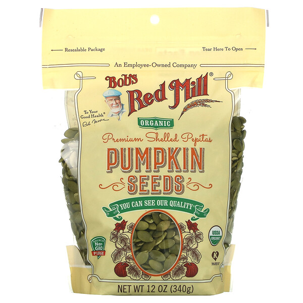 Premium Shelled Pepitas, Pumpkin Seeds, 12 oz (340 g)
