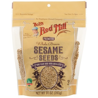 Bob's Red Mill, Whole Brown Sesame Seeds, 10 oz (283 g)