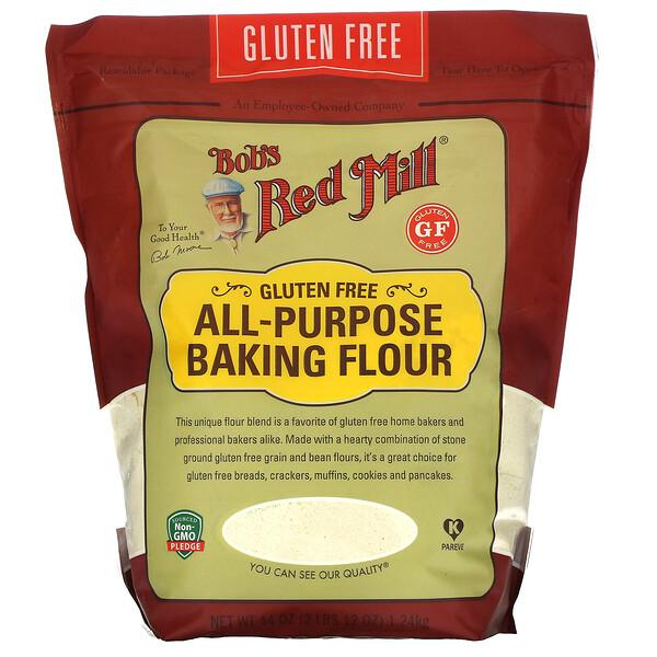 中筋烘焙麵粉,無麩質,44 盎司(1.24 千克)