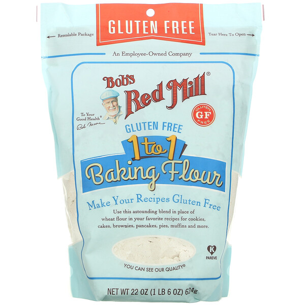 1 to 1 Baking Flour, Gluten Free, 22 oz (624 g)