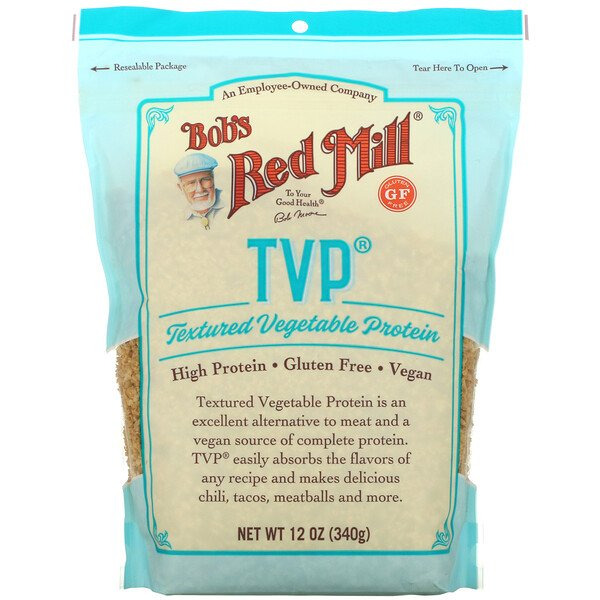 Bob's Red Mill, TVP, Textured Vegetable Protein, 12 oz (340 g)