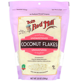 Bob's Red Mill, Coconut Flakes, Unsweetened, Unsulfured, 10 oz (284 g)