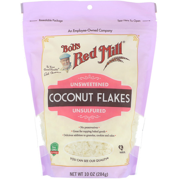 Coconut Flakes, Unsweetened, Unsulfured, 10 oz (284 g)