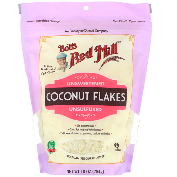 Bob's Red Mill, Coconut Flakes, Unsweetened, 10 oz (284 g)