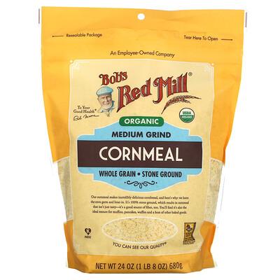 Купить Bob's Red Mill Organic Medium Grind Cornmeal, Whole Grain, 24 oz ( 680 g)
