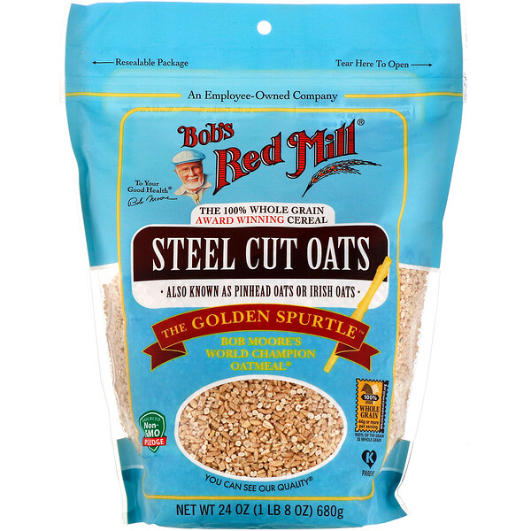 Steel Cut Oats, Whole Grain, 24 oz (680 g)