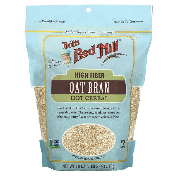 High Fiber Oat Bran Hot Cereal, 18 oz ( 510 g)