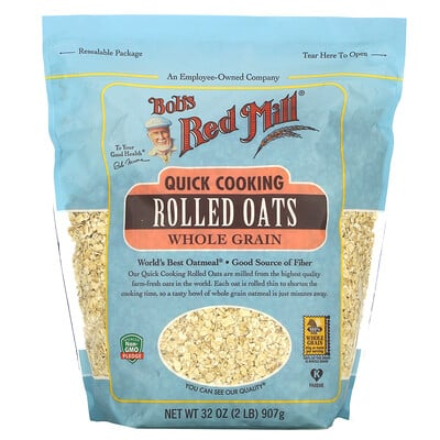Bob's Red Mill Quick Cooking Rolled Oats, 32 oz ( 907 g)