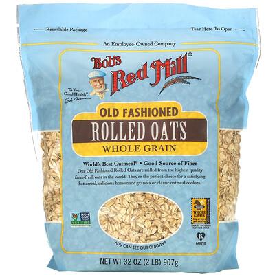 Bob's Red Mill Old Fashioned Rolled Oats, Whole Grain, 32 oz (907 g)  - купить со скидкой