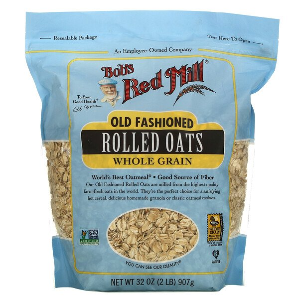 Bob's Red Mill, Old Fashioned Rolled Oats, Whole Grain, 32 oz (907 g)