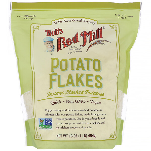 Bob's Red Mill, Potato Flakes, Instant Mashed Potatoes, 16 oz (454 g)