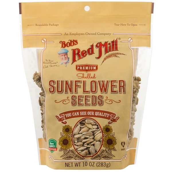 Bob's Red Mill, Shelled Sunflower Seeds, 10 oz (283 g)