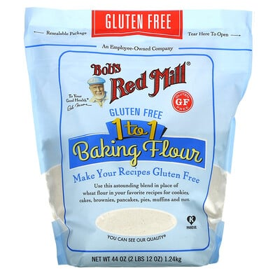 Купить Bob's Red Mill 1 to 1 Baking Flour, 44 oz (1.24 kg)