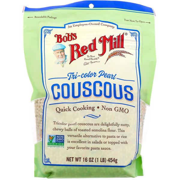 Tri-Color Pearl Couscous, 16 oz (454 g)