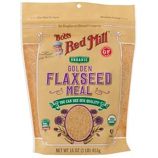 Bob's Red Mill, Alimento de semillas de lino orgánicas doradas, 16 oz (453 g)