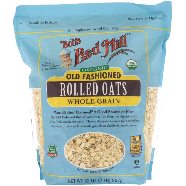 Bob's Red Mill, Organic Old Fashioned Rolled Oats, Whole Grain, 32 oz (907 g)
