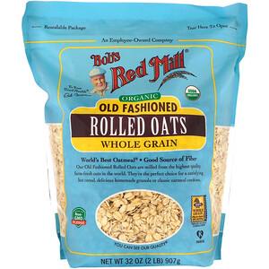 Бобс Рэд Милл, Organic Old Fashioned Rolled Oats, Whole Grain, 32 oz (907 g) отзывы