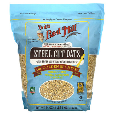 Купить Bob's Red Mill Steel Cut Oats, 54 oz (1.53 kg)