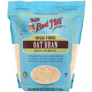 Бобс Рэд Милл, High Fiber Oat Bran Hot Cereal, 40 oz (1.13 kg) отзывы