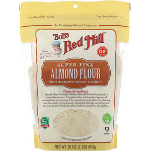 Bob's Red Mill, Super-Fine Almond Flour, Gluten Free, 16 oz (453 g)