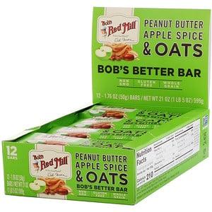 Бобс Рэд Милл, Bob's Better Bar, Peanut Butter Apple Spice & Oats, 12 Bars, 1.76 oz (50 g) Each отзывы